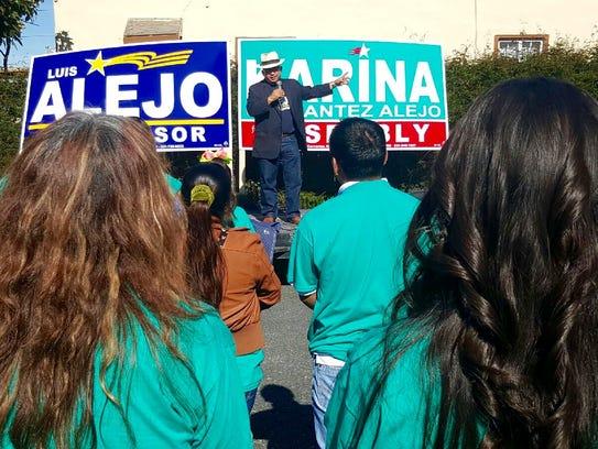 Luis Alejo and Karina Cervantez Alejo's joint campaign