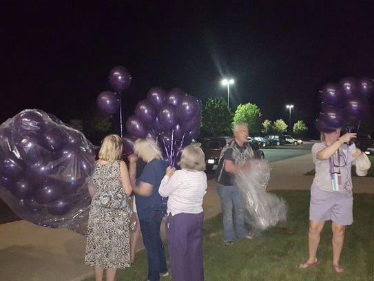 Community members organized a balloon launch  Friday