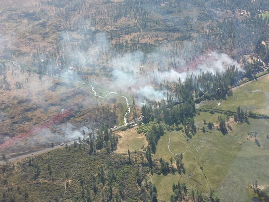 The Corner Fire burned 12 acres but was at 80 percent