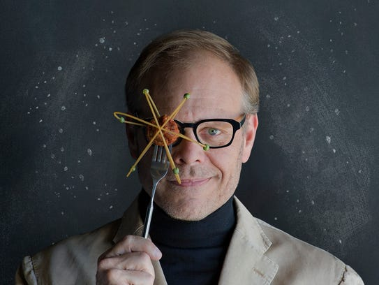 Food science star Alton Brown appears at the Orpheum on Friday.
