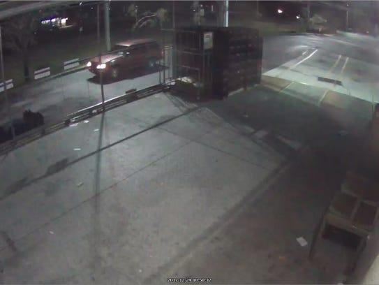 Sebastian police say a man driving this car stole liquor