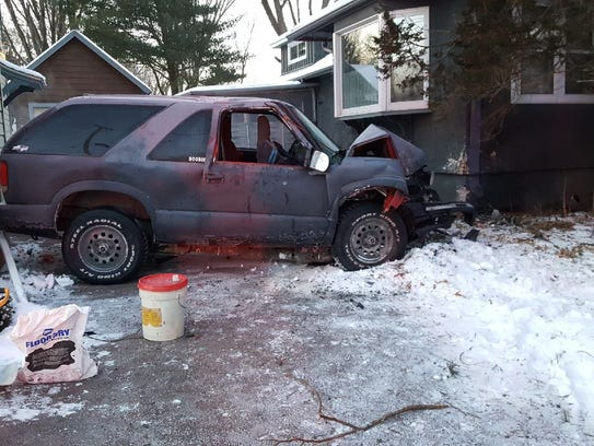 This SUV driven by a 32-year-old Marshfield man crashed