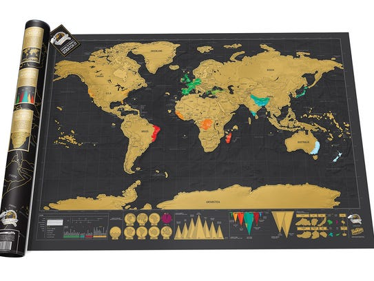 The Scratch Map Deluxe is a way in which travelers