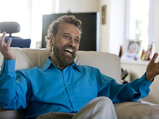 In this July 18, 2012 photo taken at his Branson theater, Yakov Smirnoff talks about his life. The Russian-American comedian is returning to Branson with limited-engagement shows in fall 2018 and more shows in 2019.