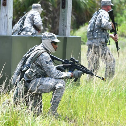 Security Forces Airmen of the 920th Rescue Wing from