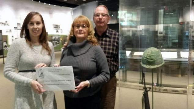 (L-R) Sarah Hagarty, NJ Vietnam Veterans Memorial; Marion and Dennis Zilinski, Lt. Dennis W. Zilinski II Memorial Fund.