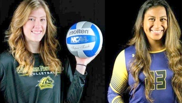 Heather Verril, left and Ashley Mataele were named to the Westminster All-Tournament Team.