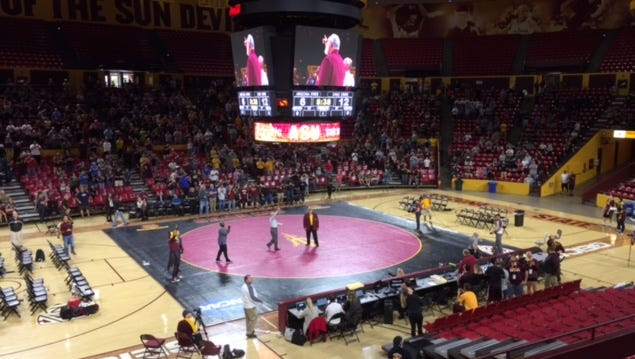 ASU wrestling honored 1967 NCAA champion Curley Culp on Saturday during a meet against Ohio State.