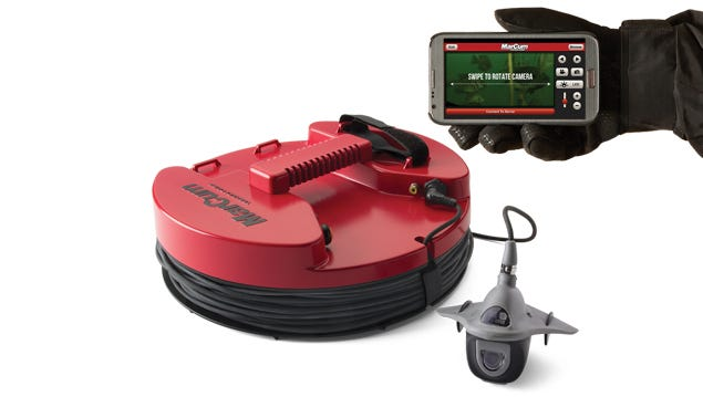 MarCum Pan Cam camera units are manufactured in the USA. This camera allows ice anglers to monitor multiple holes at once.