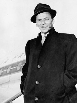 Legendry singer Frank Sinatra in file picture dated April 1968 at Orly airport arrives in Paris.