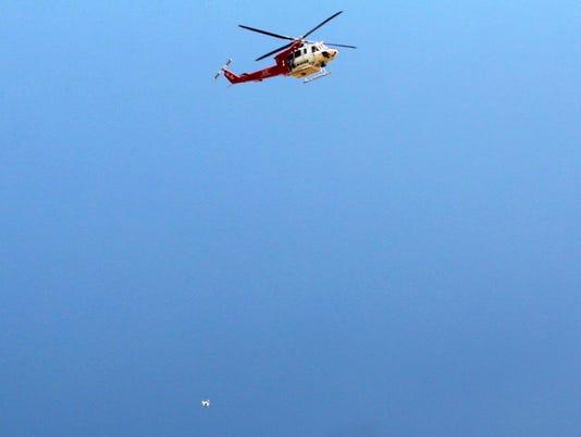 AP BRUSH FIRE DRONE A USA CA