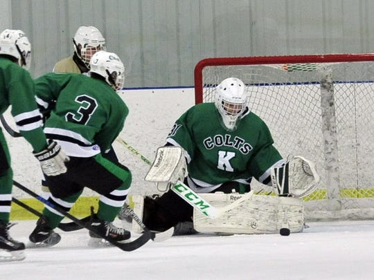 Kinnelon senior goaltender Sean Hofmann leads the 15th-seed Colts into the upcoming Public B State Ice Hockey Tournament. Kinnelon hosts No. 18 Mahwah in Tuesday's opening round.