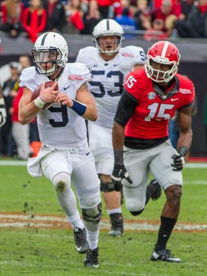 Trace McSorley, seen here in action in last season's TaxSlayer Bowl, is the favorite to be Penn State's starting quarterback this season.