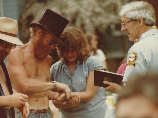 Gary ''Bonz' Saddlemire and Diane Shea marry.
