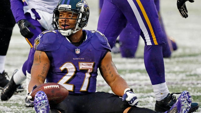 Ravens RB Ray Rice managed only 660 rushing yards in 2013.