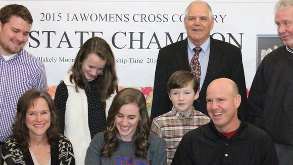Highlands senior Blakely Moore has signed to run in college for Lee (Tenn.).