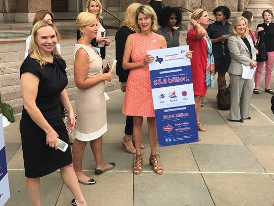 Several businesswomen speak against the bathroom bill