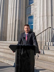 Speaker of the House Shap Smith announces Tuesday in Montpelier he is suspending his campaign for governor. Smith's wife, Melissa, is fighting breast cancer. Smith also said he would not seek re-election to his House seat in 2016.