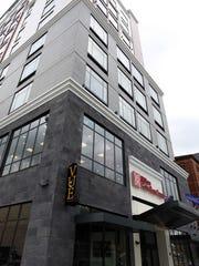 The Hilton Garden Inn on Burlington and Clinton Street