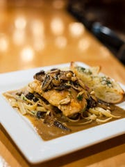 Chicken Marsala with portobello and button mushrooms