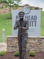 The Pat Head Summitt Legacy Park statue is unveiled