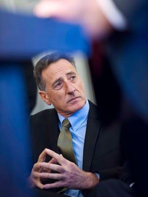 Gov. Peter Shumlin says he's working to bridge Vermont's multimillion-dollar budget gap.