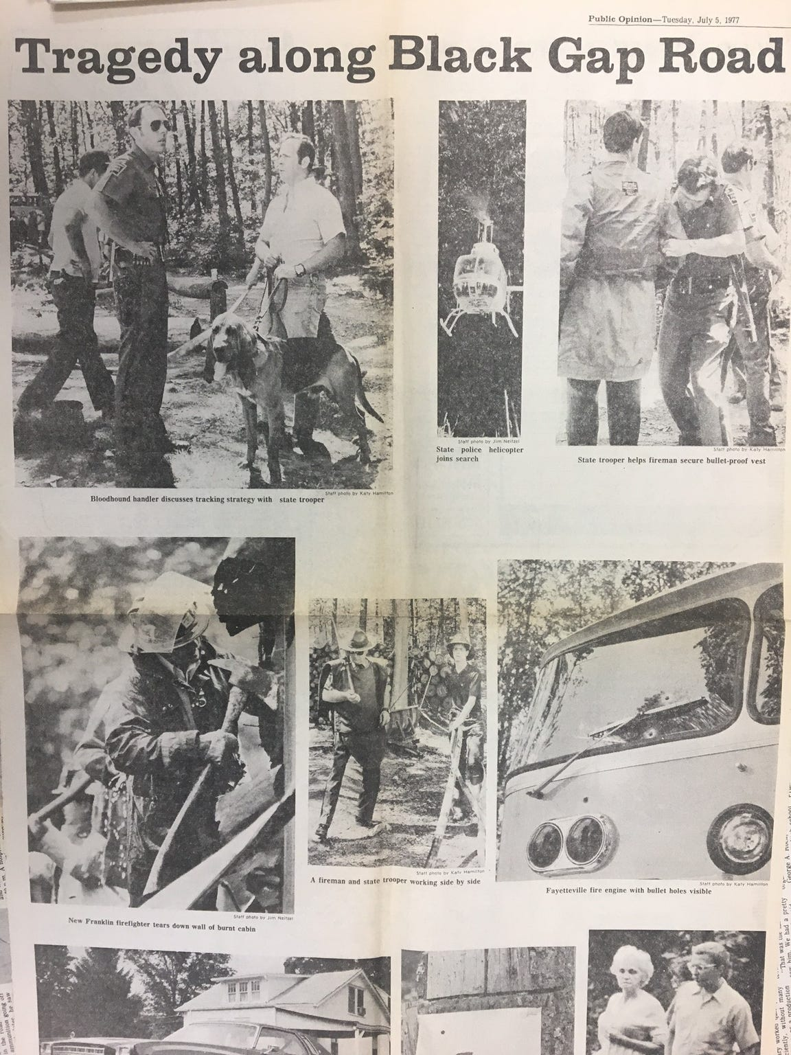 Public Opinion devoted four pages on July 5, 1977, to the July 2 shooting. The newspaper did not publish on Sunday or the holiday.