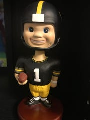 Just like current youngsters look up to Iowa State's Joel Lanning, Joel had guys he looked up to, also. His idol was former Ankeny kicker Kyle Schlicher. He's even got a bobblehead, from back when Schlicher was a Hawkeye