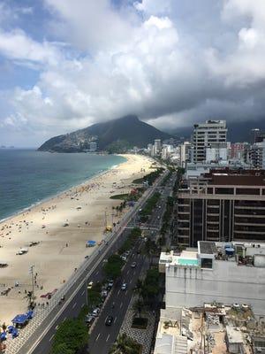 The Rio de Janeiro beach neighborhoods of Ipanema and Leblon are seen on Friday, Jan. 26, 2018.