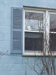 An explosive cause some damage to a home's window in the 1300 block of Cypress Avenue in Elsmere.