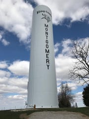 This tower in Montgomery welcomes you to Viking Country.
