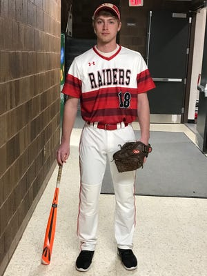 Senior Caleb Krommenakker turned in a strong performance at the plate last season. He ranked fifth in the Wisconsin Valley Conference with a .414 batting average.