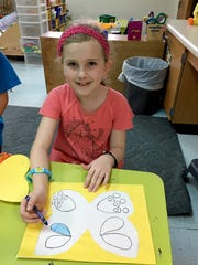 Sophia Gigliotti, a second-grader at Nelson-Wilks-Herron