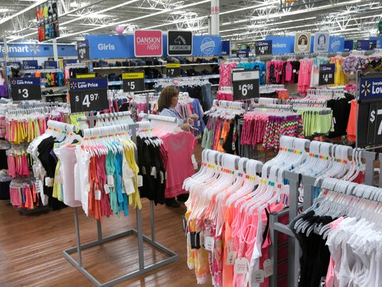 Walmart clothing store
