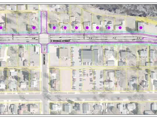The newest draft of the Thomas Street construction