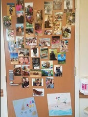 Jordyn's room was decorated with family pictures; friends