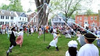 Children whirl around the Maypole as part of a recent Dover Days celebration, one of Kent County Tourism's signature events.
