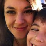 Lauren Ziessler and her son.
