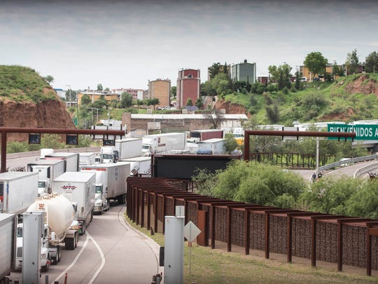 Extra lanes with inadequate staffing do little to ease congestion at the busy Mariposa Port of Entry in Nogales, Arizona. It can take trucks hours to get across the border.