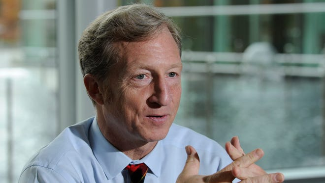 Tom Steyer, a billionaire environmentalist who has invested heavily in efforts to stop the Keystone XL pipepline.
