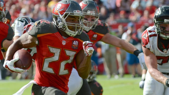 RB Doug Martin rushed more than 1,400 yards in 2015.