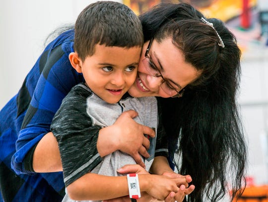 Yolany Padilla is reunited with her son, Jeslin in
