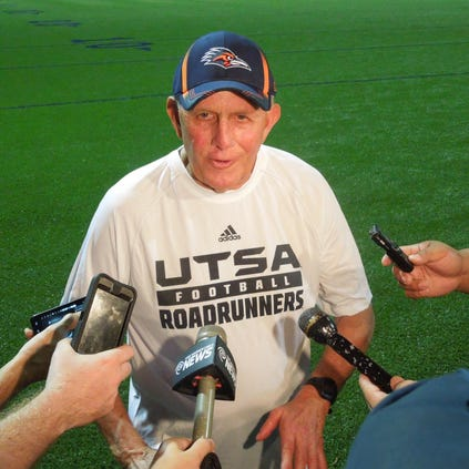 UTSA coach Larry Coker is 20-15 with the Roadrunners, who opened their fourth season with a 27-7 victory over the University of Houston on Friday night in Houston.