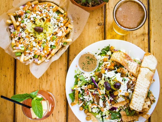 A sampling of Spitz's menu offerings, including their