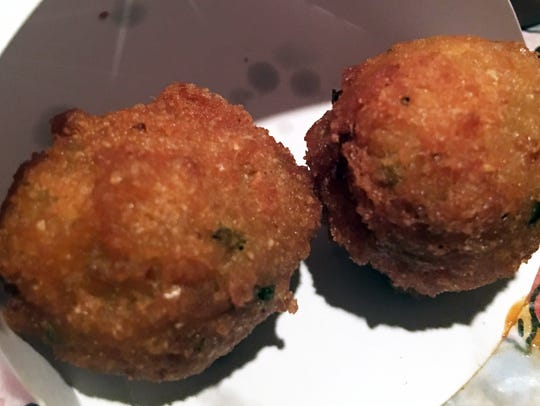 Fresh-made hushpuppies are a delicious treat.