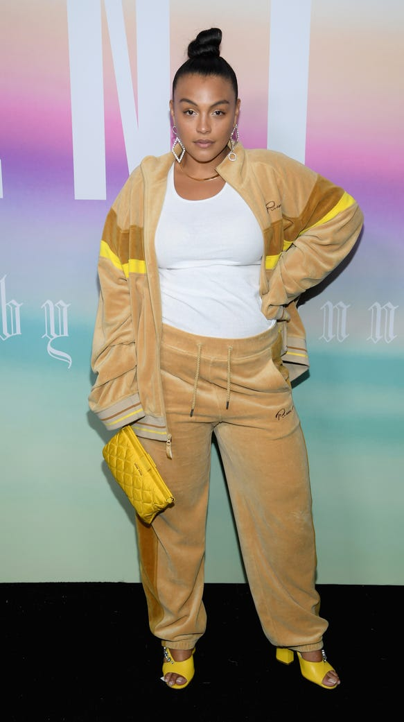 Paloma Elsesser walked in the Eckhaus Latta show. Here,