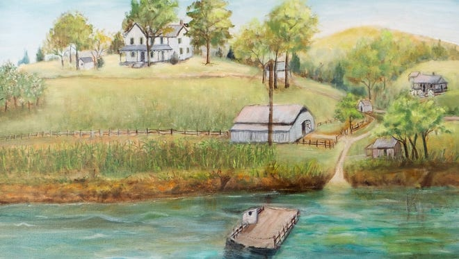 A painting of Hodges Ferry in the collection of Joanne Hodges.
