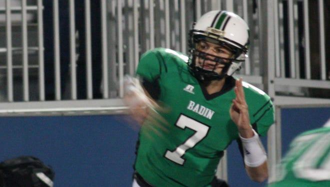 Badin quarterback Zach Larkin led his squad to a season-opening victory on Saturday.