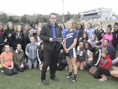 Roberson junior Mary Laci Motley is the latest winner of the Mission Health Spotlight Performance of the Week award.