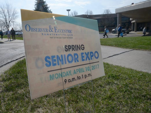 Attendees enter the 14th annual Spring Senior Expo